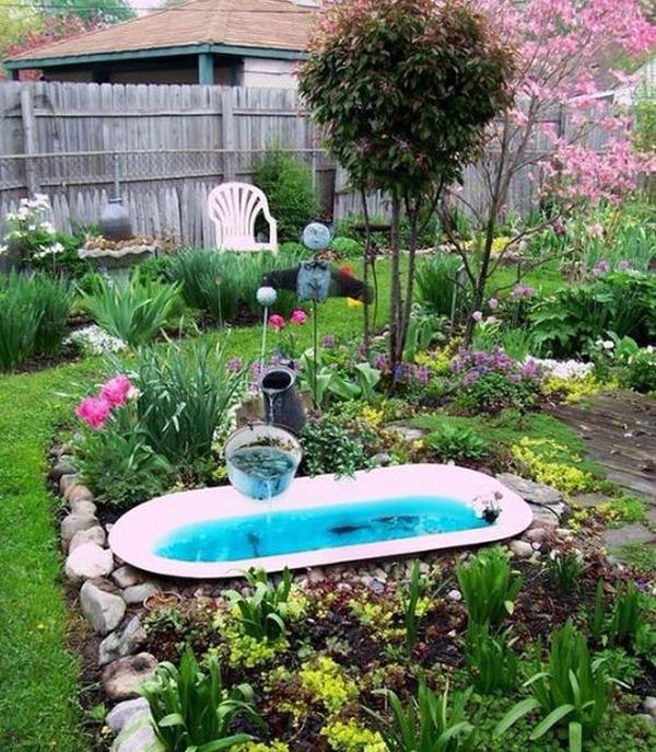 recycle-bathtub-garden-pond-ideas
