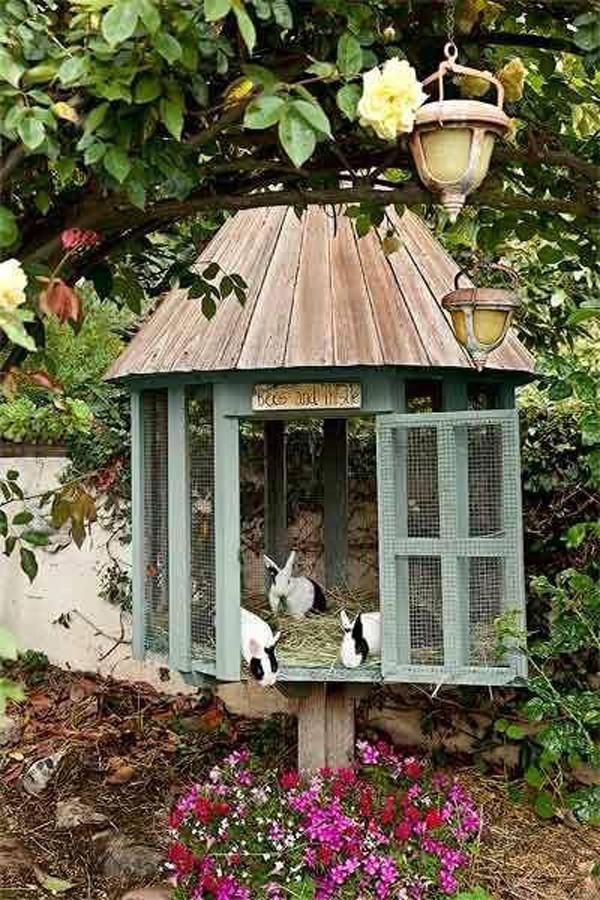 rustic-bunny-cage-garden
