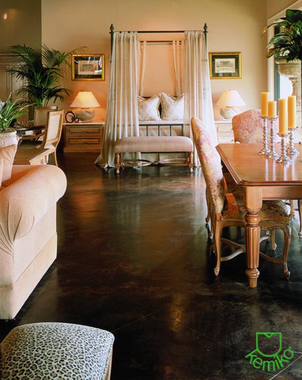 shabby-chic-interior-with-black-concrete-floors