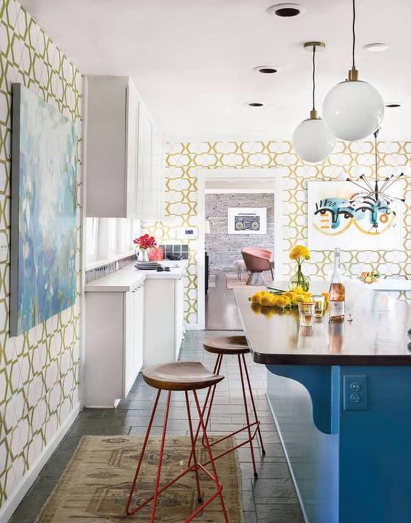 summer-style-kitchen-wallpaper-decor