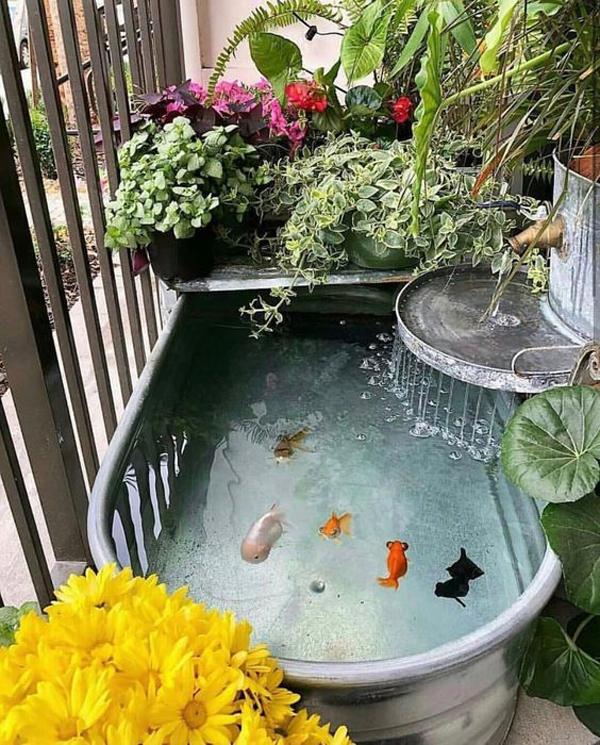 vintage-diy-bathtub-pond-design