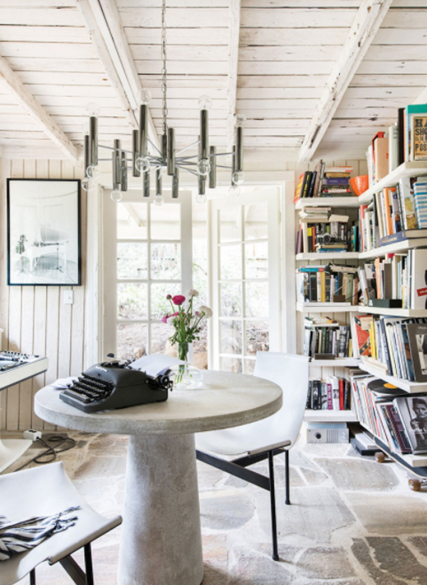vintage-off-wwhite-home-office-with-bookcase