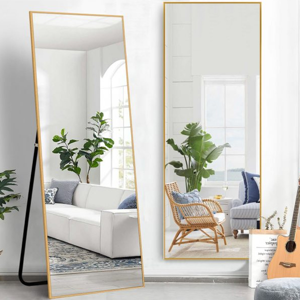wall-and-standing-full-length-mirror-with-gold-frame