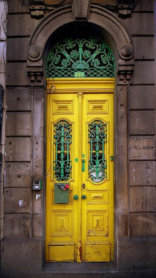 yellow-and-mint-green-front-doors