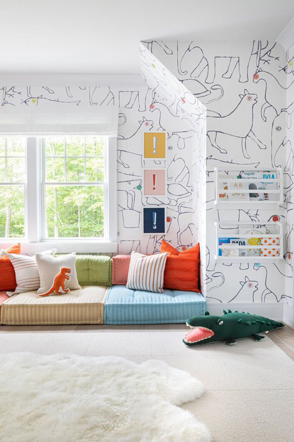 amazing-kids-playroom-wallpaper-with-window-seating