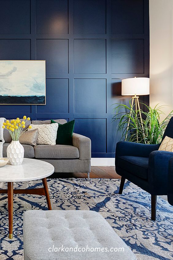 contempory-living-room-with-navy-blue-accent-walls