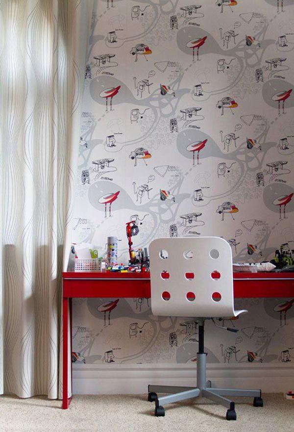 cute-desks-with-cartoon-wallpaper-ideas