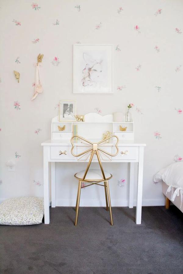 cute-little-girls-desk-with-floral-wallpaper