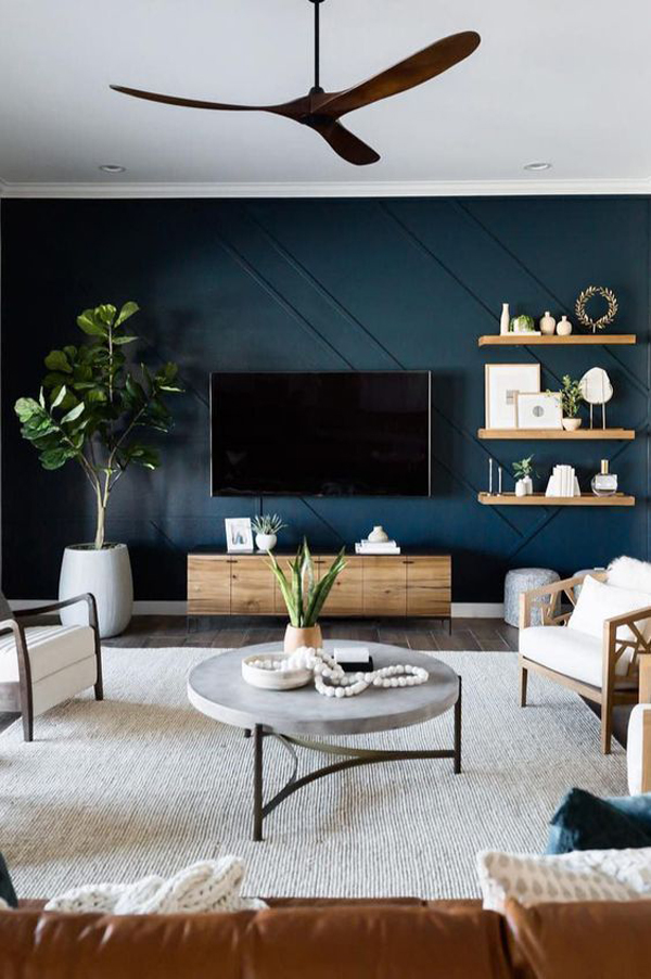 dark-blue-accent-walls-for-living-room