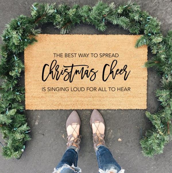 holiday-christmas-cheer-doormat-ideas