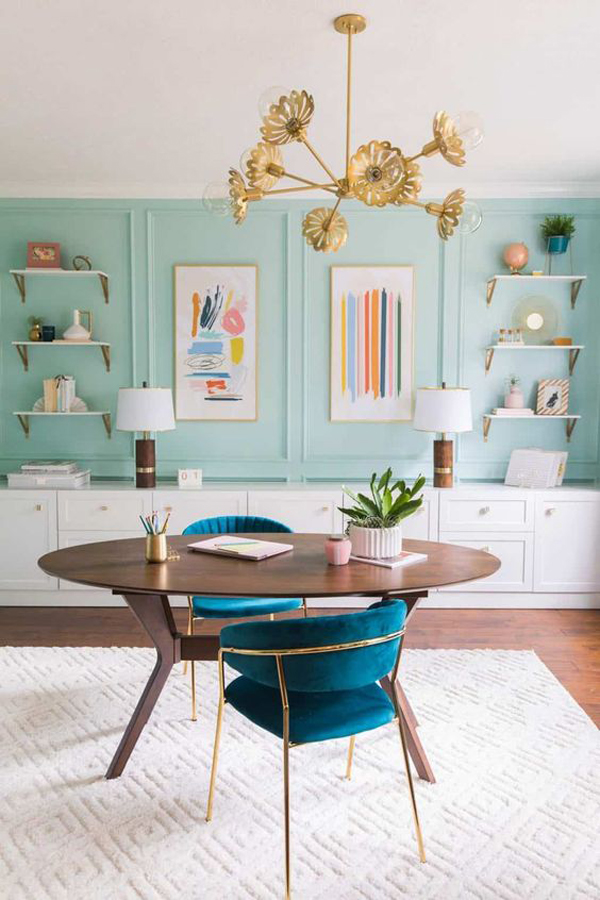 home-office-design-with-light-blue-accent-walls