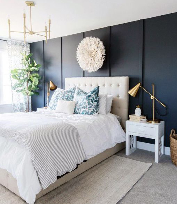 navy-blue-accent-wall-bedroom