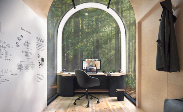prefab-office-interior-with-wood-view