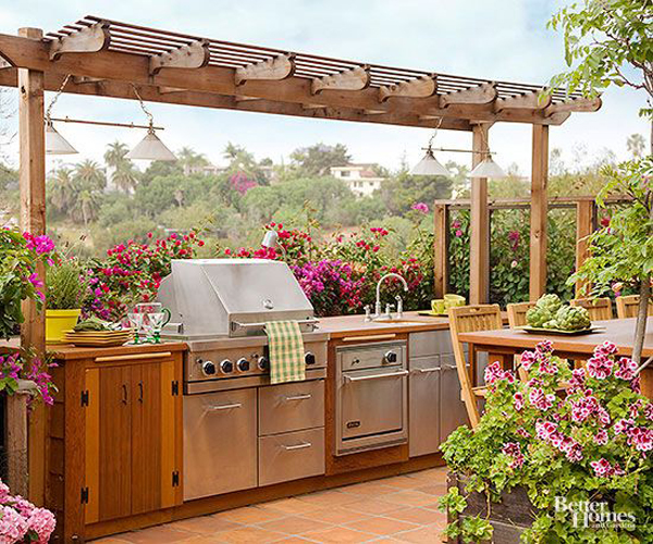 pretty-outdoor-rooftop-kitchen-for-summer
