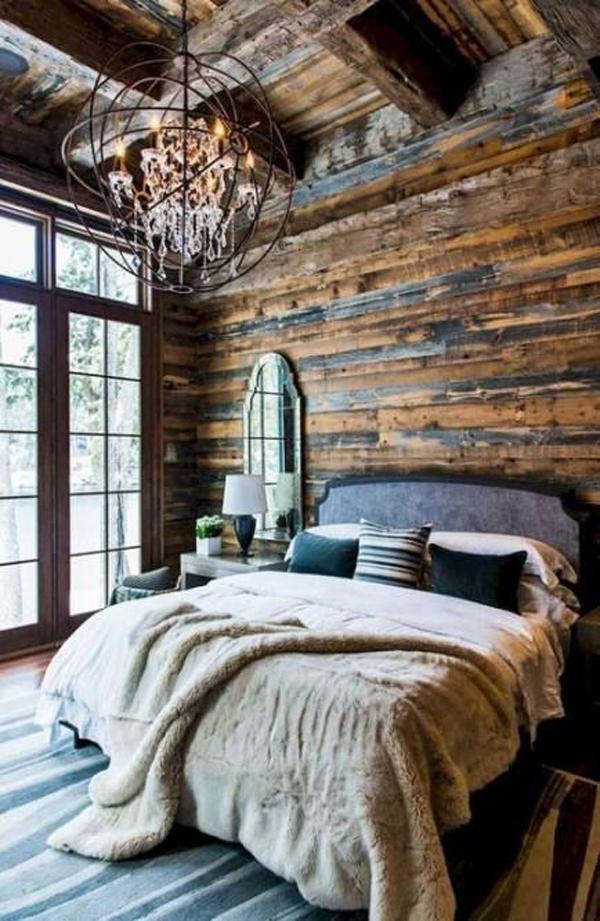 rustic-wooden-bedroom-design-for-cabin