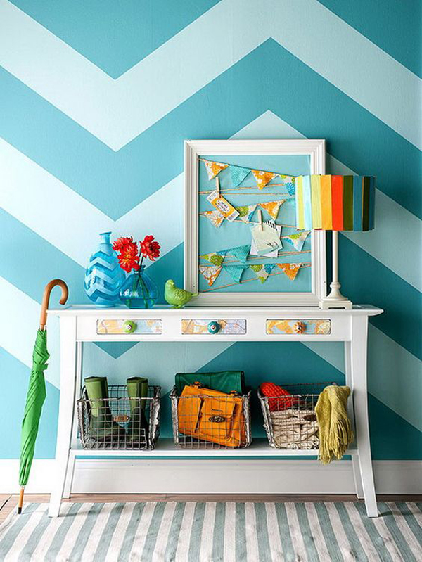 striped-blue-accent-wall-ideas