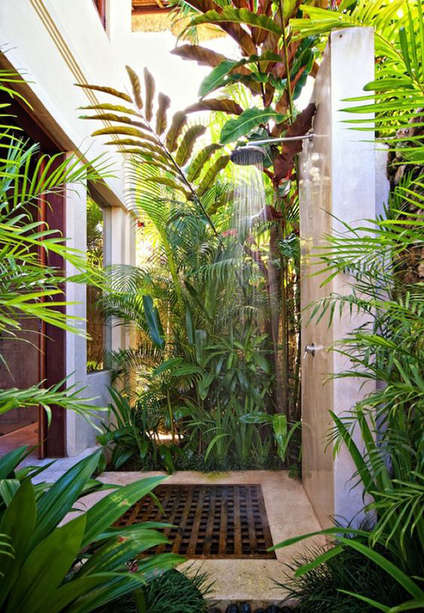 tiny-backyard-shower-with-nature-plant-barrier