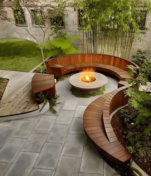wood-curved-benches-outdoor