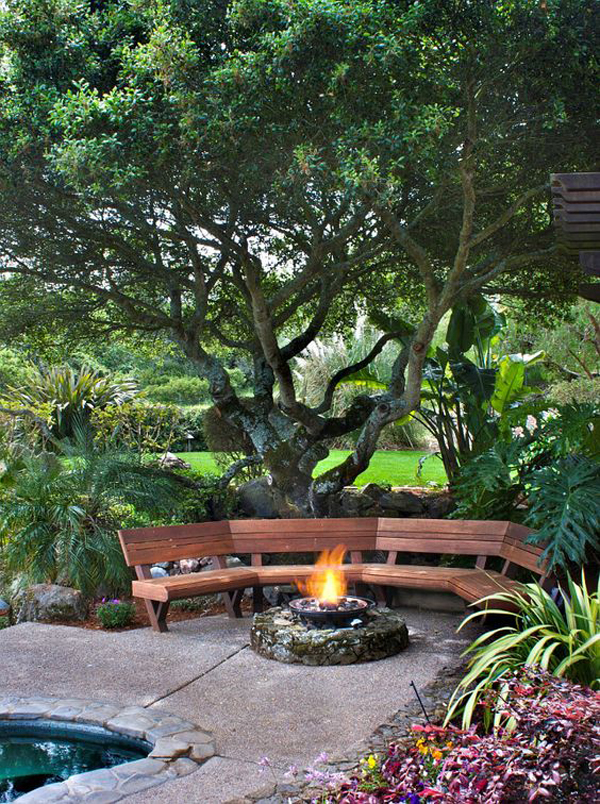 wooden-curved-benches-outdoor-with-fire-pit