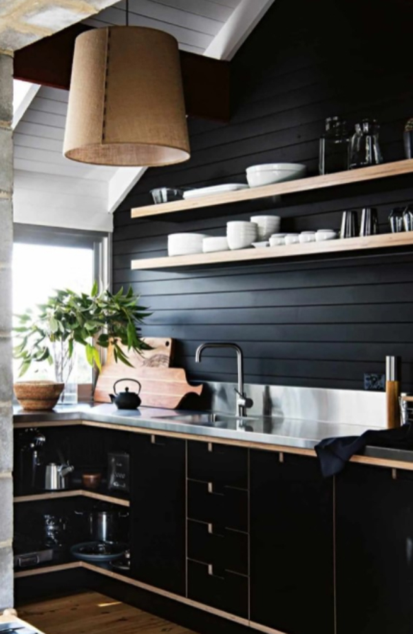 black-kitchen-design-with-open-racks