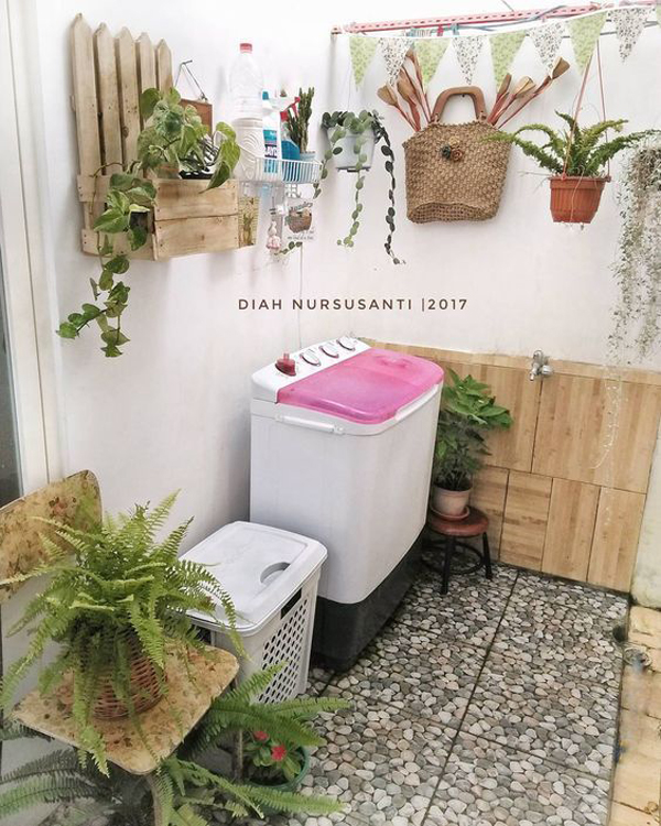 boho-chic-laundry-rooms-for-small-space