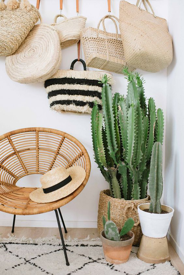 boho-style-cactus-plant-decor-with-hanging-bags