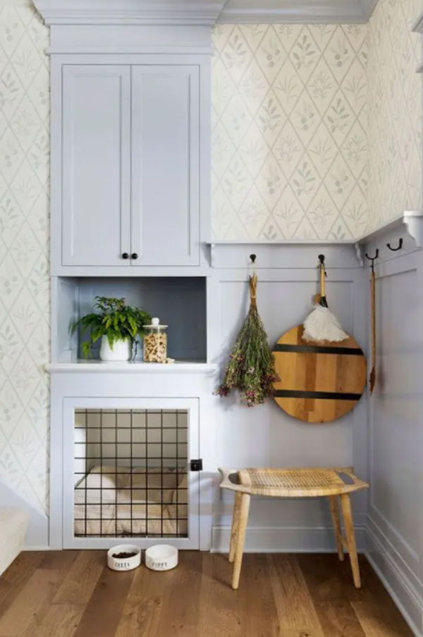 built-in-dog-crates-in-the-kitchen