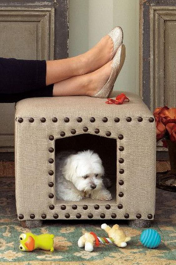 built-in-dog-crates-into-furniture