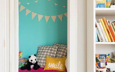colorful-mini-closet-reading-nook-ideas