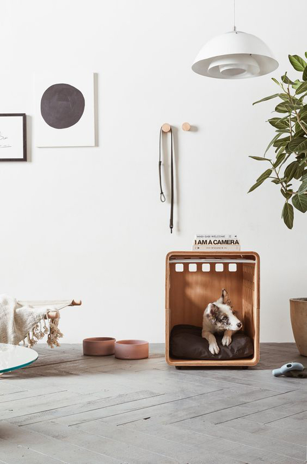 cool-wood-dog-kennel-for-indoor