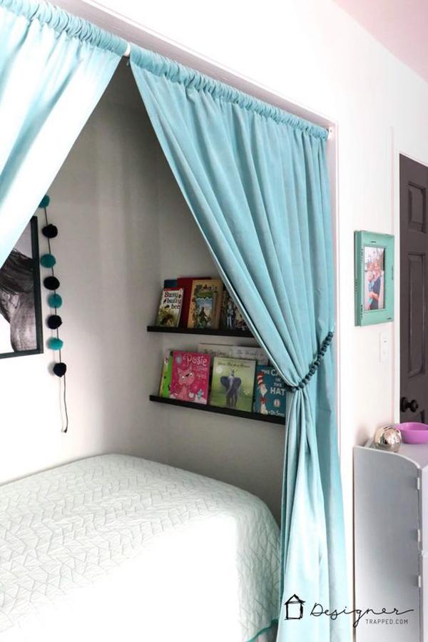 cozy-closet-bed-nook-with-bookcase