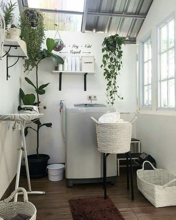 functional-small-laundry-room-with-woven-basket