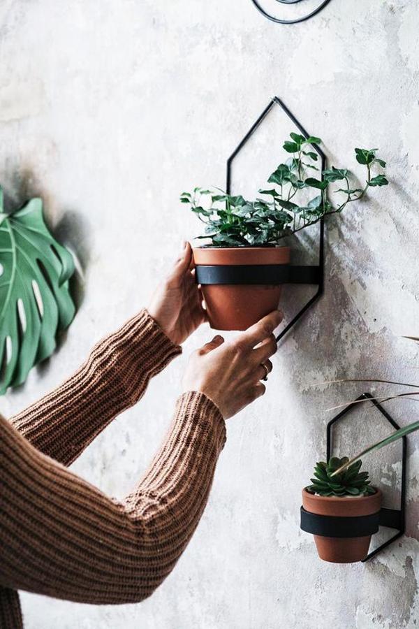 geometric-shape-wall-planter-ideas