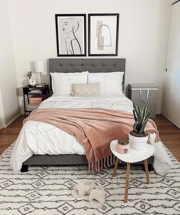 grey-millennial-bedroom-with-poster-wall