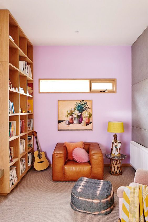 lilac-reading-nook-with-bookcase-design
