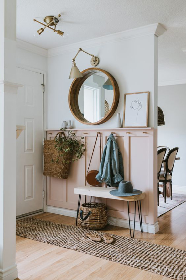 mid-century-mudroom-entryways-with-pink-accent