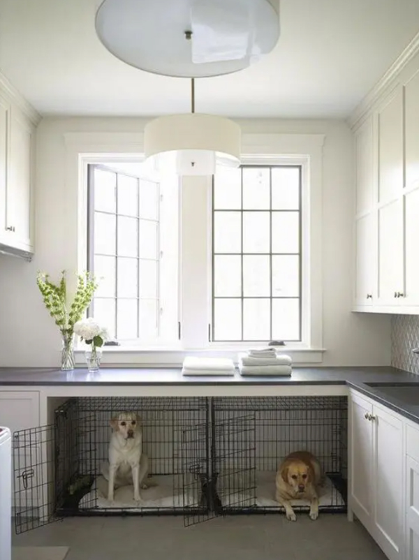 neutral-laundry-room-with-double-dog-crates