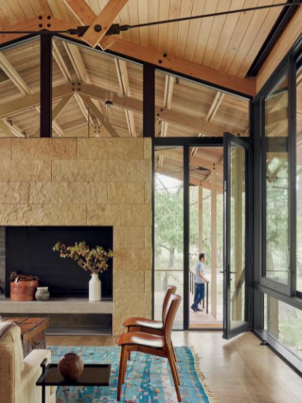 open-wood-living-room-design