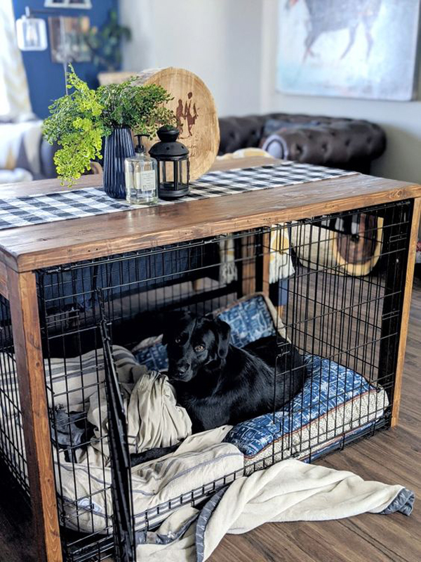 rustic-dog-crates-table