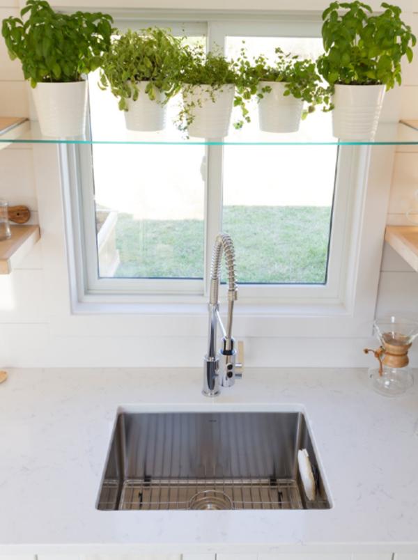tiny-kitchen-sink-with-indoor-plants