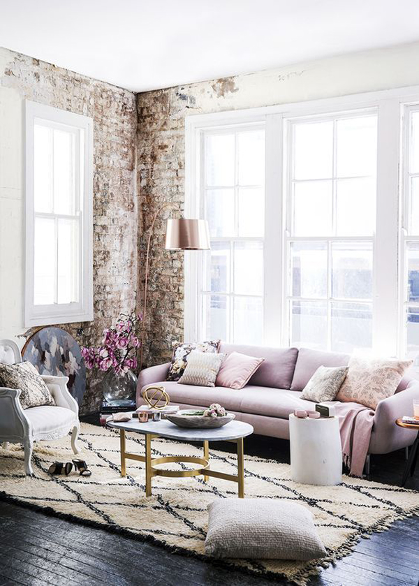 trendy-lilac-living-room-with-brick-exposed