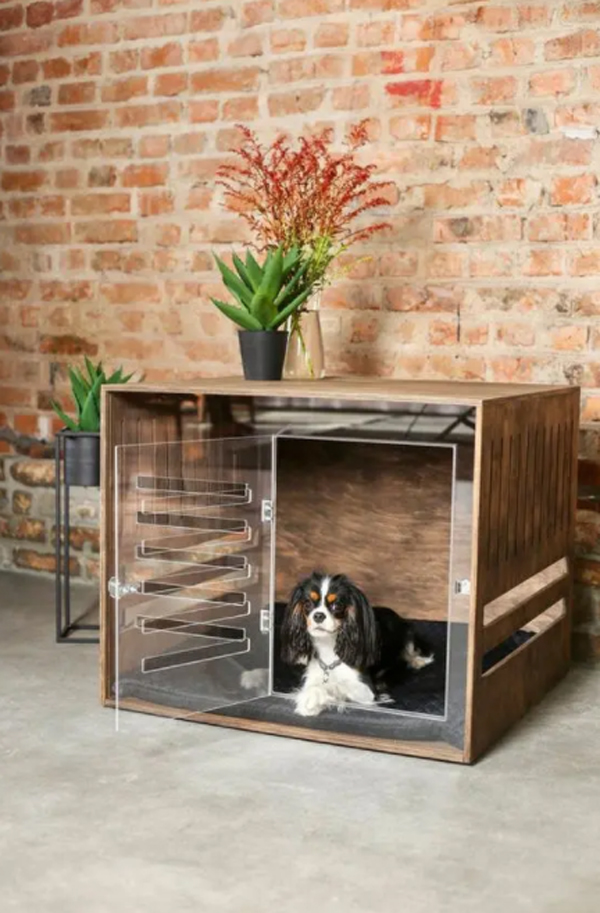 ultra-modern-dog-crates-with-brick-exposed