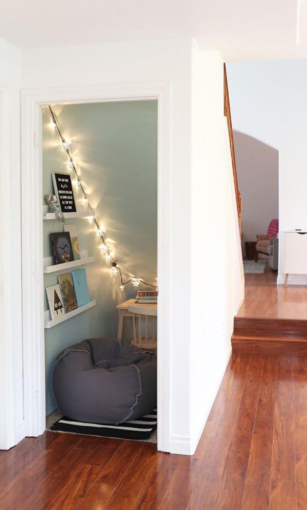 under-stairs-closet-reading-nook