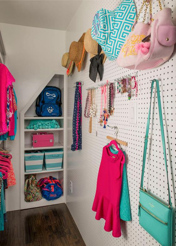 under-stairs-pegboard-closet-ideas