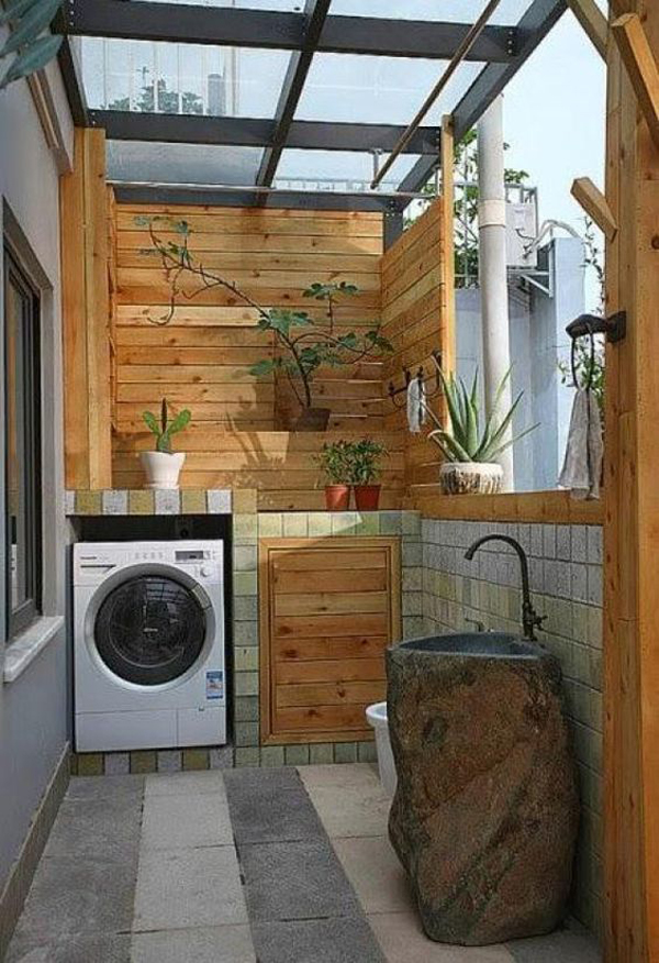 wood-laundry-room-design-for-small-space