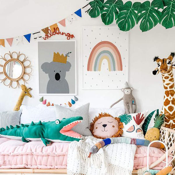 animal-themed-room-with-rainbow-splash
