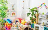 boho-chic-kid-bedroom-with-rainbow-color