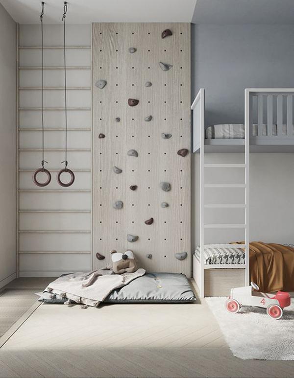grey-kids-bedroom-with-indoor-playground