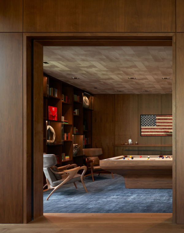 lounge-areas-with-pool-table-and-american-flag-decor