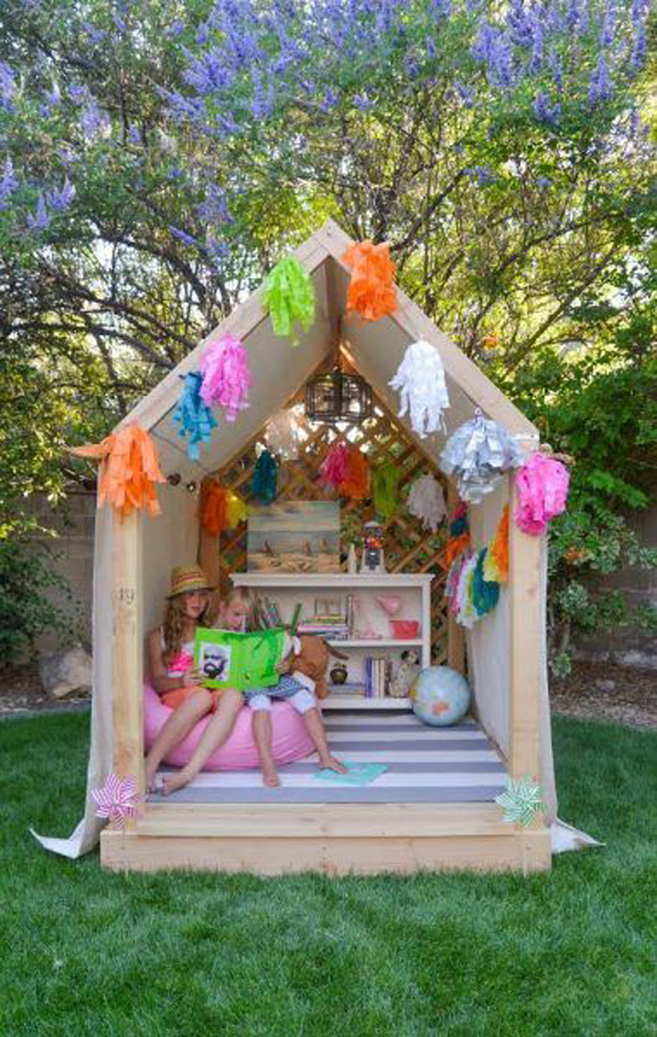 outdoor-diy-kids-playhouse-with-reading-space